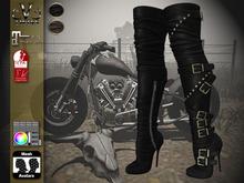 V-Twins Biker Boots - Nashville Black & Brown Maitreya;SLink;Belleza