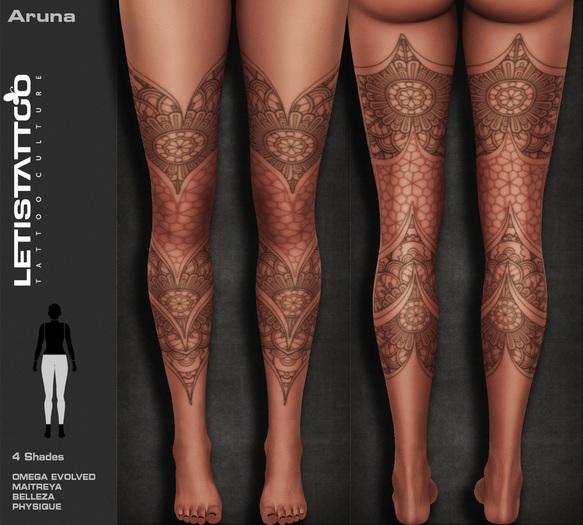 Letis Tattoo :: Aruna :: Leg Tattoo & Omega Legacy Maitreya and more Appliers