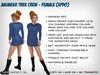 Animesh Star Trek Crew - Female (Updo)