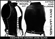 Patchable Leather Vests Gianni Aesthetic Jake Slink