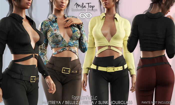 MILA Top FATPACK - MESH - Maitreya Lara, Belleza Freya - FashionNatic