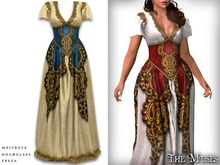 The Muses . Austra gown . Blue/Gold