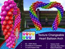 Birthday 3D Balloon Heart Arch { Mesh Promo }