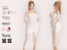 Lovers : Maternity : Long Lace Dress : White