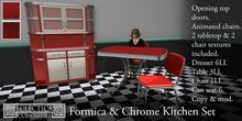 Eclectica Curiosities- Mid Century Kitchen in Red
