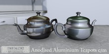 Eclectica Curiosities Teapot, anodised silver & copper