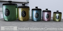 Eclectica Curiosities Kitchen Cannisters- anodised aluminium
