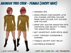 Animesh Star Trek Crew - Female (Short Hair)