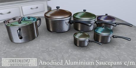 Eclectica Curiosities Anodised Saucepans Set
