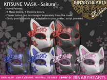 BINARYHEARTS - Kitsune Mask (Sakura)