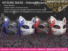 BINARYHEARTS - Kitsune Mask (Oriental Beauty)