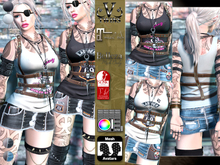 V-Twins- Biker Clothes - Assault Biker Version **MESH Outfit [Mesh Bodies Compatible] Maitreya Slink Belleza