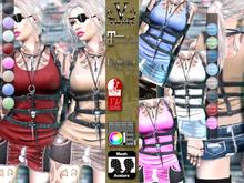 V-Twins- Casual Clothes - Assault color Version **MESH Outfit [Mesh Bodies Compatible] Maitreya Slink Belleza