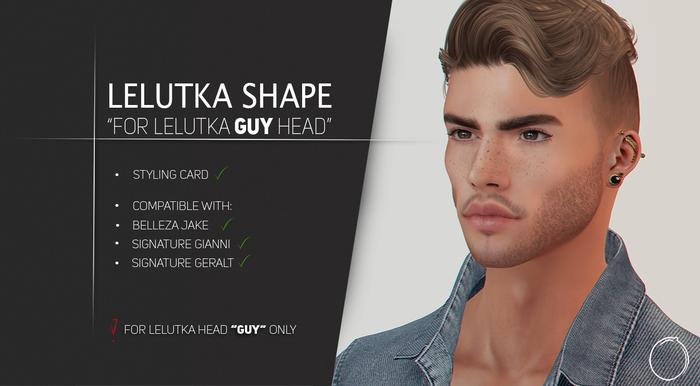 """Lelutka Head """"GUY"""" Shape 1.0"""