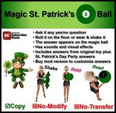 Magic St. Patrick's 8 Ball [no mod]