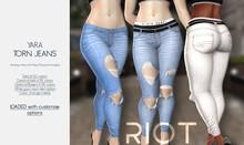 RIOT / Yara Torn Denims - Fatpack | Maitreya / Belleza / Slink