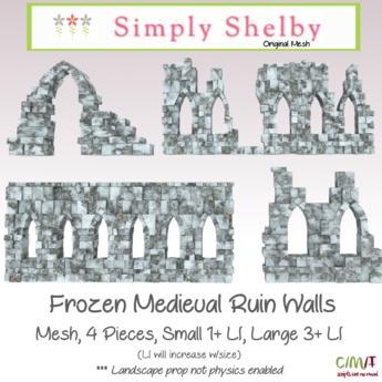 Medieval Ruin Walls box - frozen edition