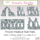 Medieval Ruin Walls box - frozen edition