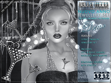 """DEMO - Bella Moda """"Martini"""" Jewellery Set: Necklace & Earings - Removable Resize & Stretch"""