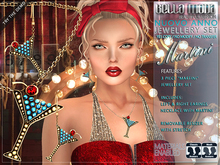"""Bella Moda """"Martini"""" Jewellery Set: Necklace & Earings - Removable Resize & Stretch"""
