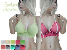 DEMO Eyelure Beaded Cami Solid or Lace w/fatpack huds