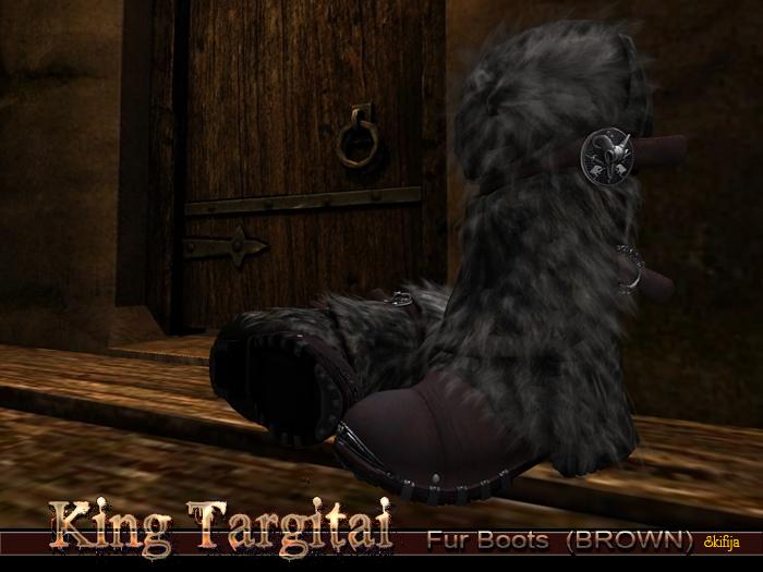 -SKIFIJA- King Targitai Fur Boots(Brown)