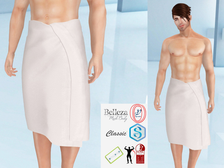 Lovers : Men's wrapped around towel : White