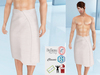 Lovers : Men's wrapped around towel : Striped White
