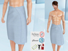 Lovers : Men's wrapped around towel : Striped Blue