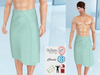 Lovers : Men's wrapped around towel : Striped Green