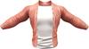 RIOT / Ace Leather jacket - Coral   Jake / Gianni / Slink / Adam