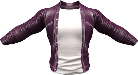 RIOT / Ace Leather jacket - Plum   Jake / Gianni / Slink / Adam