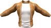 RIOT / Ace Leather jacket - Pumpkin   Jake / Gianni / Slink / Adam