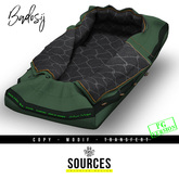 """""""BADOSIJ"""" Sleeping Bag for Single/Couple GREEN by """"Sources"""" (5 Inner Textures Incl.) PG - MESH - AddMe - PROPS - Copy"""