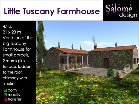 Little Tuscany Farmhouse for small parcels