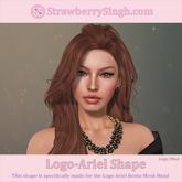 StrawberrySingh.com Logo-Ariel Shape