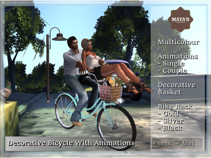 Maya's - Decorative Bicycle with Animations
