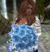 CJ Rose Bouquet Blue Rose with Hydrangea