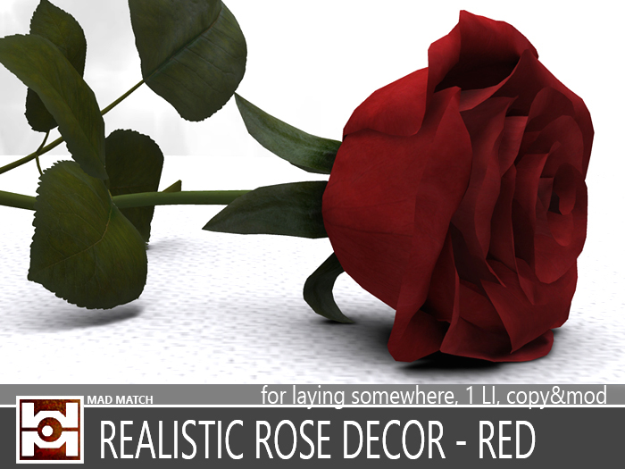 REALISTIC ROSE DECOR - RED