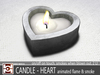 CANDLE - HEART