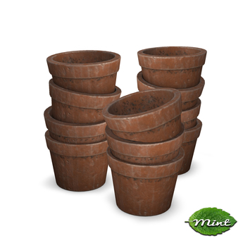 -Mint- Clay Pot Stacks