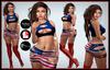 [DB] Patriotic Skirt Outfit USA Maitreya Slink Belleza