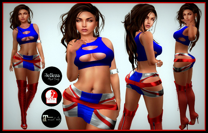[DB] English Girl Skirt Outfit Maitreya Slink Belleza