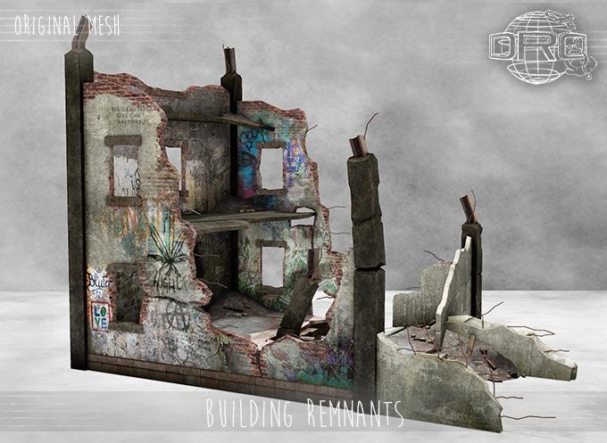 -DRD- Building Remnants - Destroyed