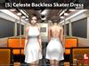 [S] Celeste Backless Skater Dress White