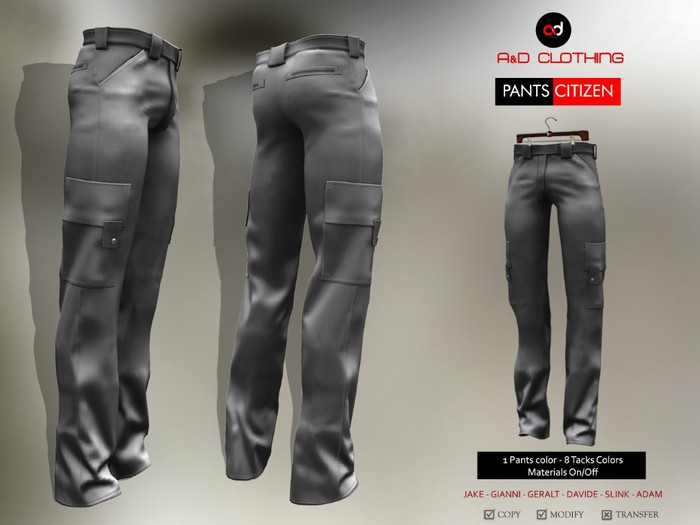 A&D Clothing - Pants -Citizen- Stone