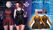 .{PSYCHO:Byts}. Aradia Dress - TartanYellow