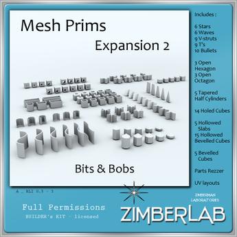 Mesh Prims full perm - ZimberLab Mesh Prims A Expansion 2
