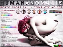 0o Morph - BENTO Human Anomalie Tail (TATTOO) + complete AO - Update 1.1