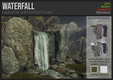 :Fanatik Architecture: WATERFALL – realistic mesh falling water sim building / landscaping prefab